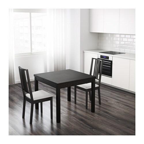 Bjursta table extensible brun noir ikea for Table a manger pour studio