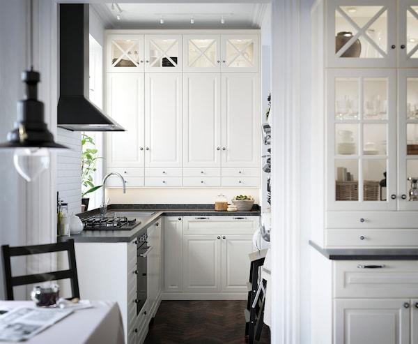 BODBYN Bandeau décor profilé, blanc cassé, 221x6 cm