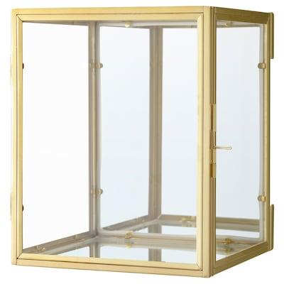 BOMARKEN Boîte vitrée, couleur or, 17x20x16 cm