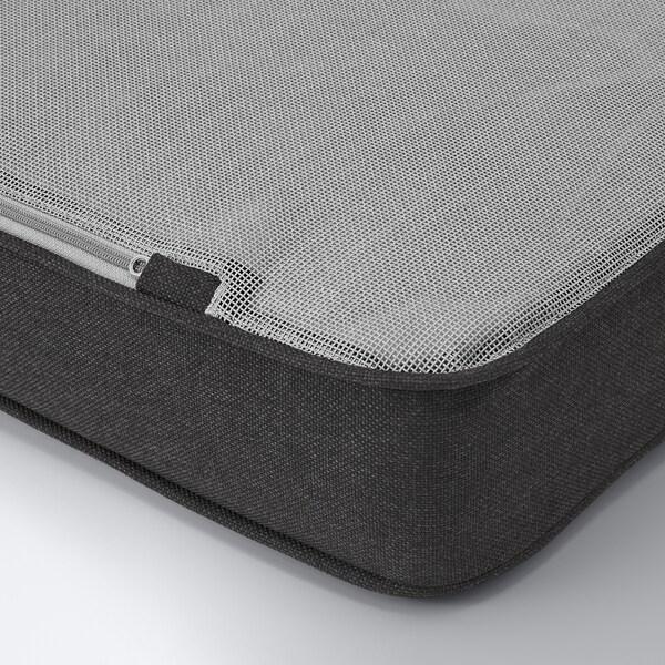 BONDHOLMEN Fauteuil, extérieur, teinté gris/Järpön/Duvholmen anthracite
