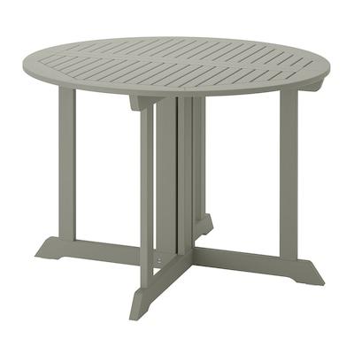 BONDHOLMEN Table, extérieur, gris, 108 cm