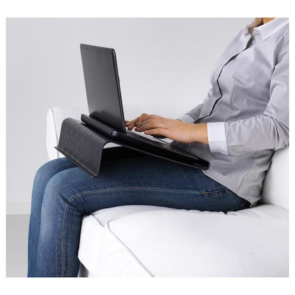 BRÄDA Support ordinateur portable, noir, 42x31 cm