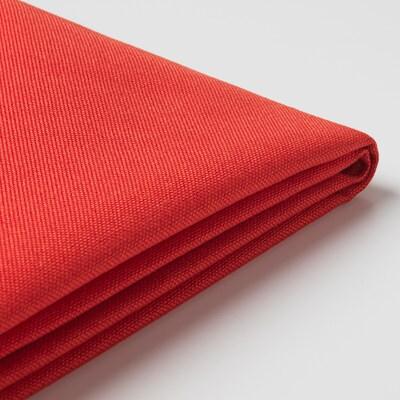BRÅTHULT Housse canapé angle, Vissle rouge orange