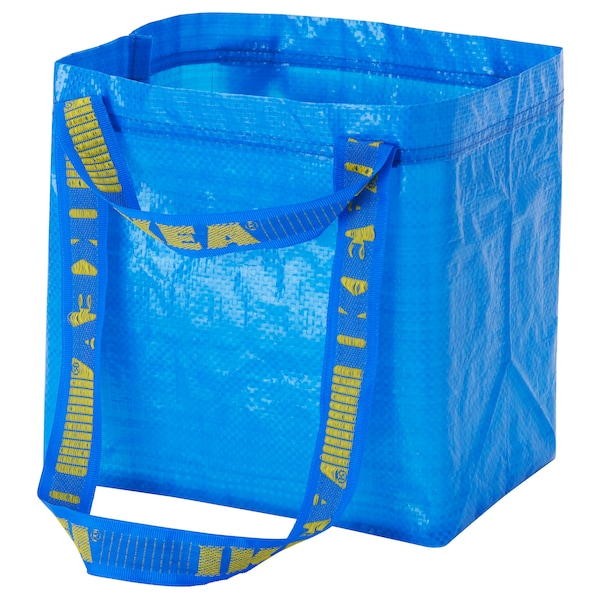 BRATTBY Sac, bleu, 27x27 cm