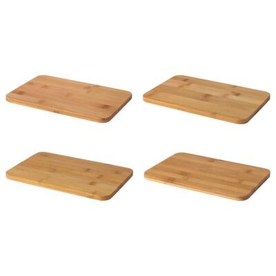 BRONSSOPP planche à découper bambou 23 cm 15 cm 4 pièces