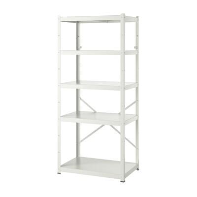 BROR Étagère, blanc, 85x55x190 cm