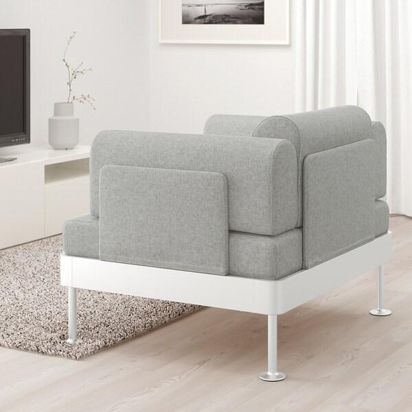 DELAKTIG fauteuil Tallmyra blanc/noir 79 cm 94 cm 84 cm 45 cm 20 cm 90 cm 80 cm 45 cm