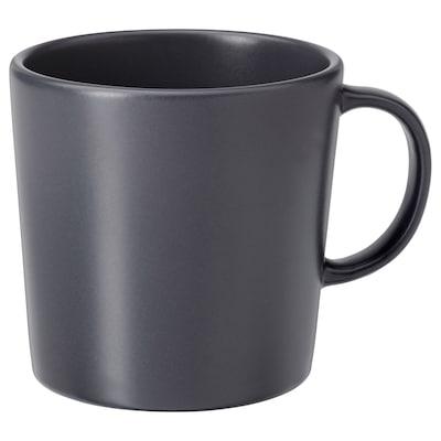 DINERA mug gris foncé 9 cm 30 cl