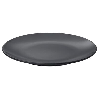 DINERA petite assiette gris foncé 20 cm