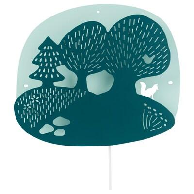 DUGGREGN Applique à LED, forêt turquoise foncé/turquoise clair