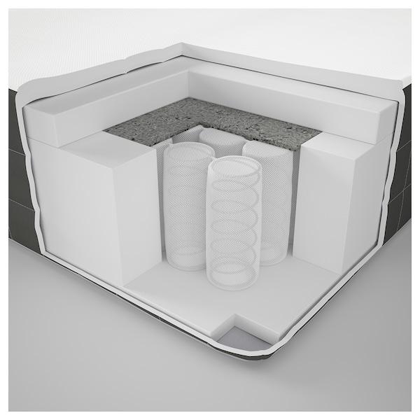 DUNVIK Lit/sommier, Hövåg mi-ferme/Tussöy gris foncé, 180x200 cm