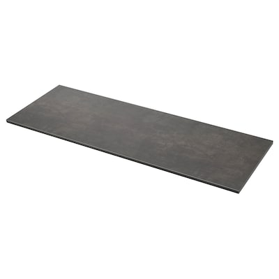 EKBACKEN plan de travail imitation ciment/stratifié 246 cm 63.5 cm 2.8 cm