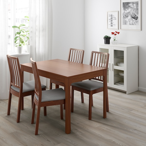 EKEDALEN Table extensible - brun - IKEA Suisse