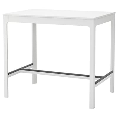EKEDALEN Table de bar, blanc, 120x80 cm