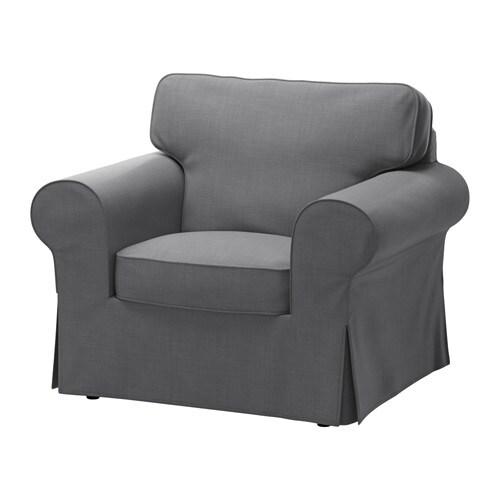 ektorp fauteuil nordvalla gris fonc ikea. Black Bedroom Furniture Sets. Home Design Ideas