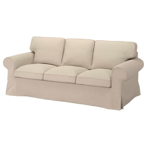 EKTORP Housse canapé 3 pl, Hallarp beige