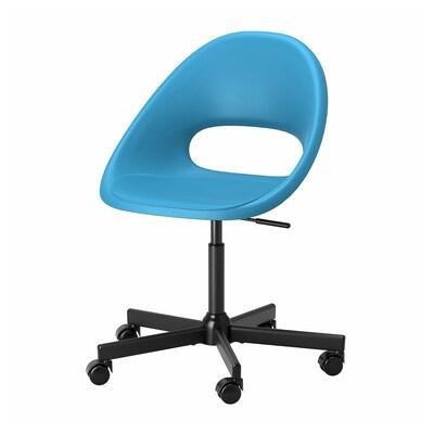 ELDBERGET / MALSKÄR Chaise pivotante, bleu/noir
