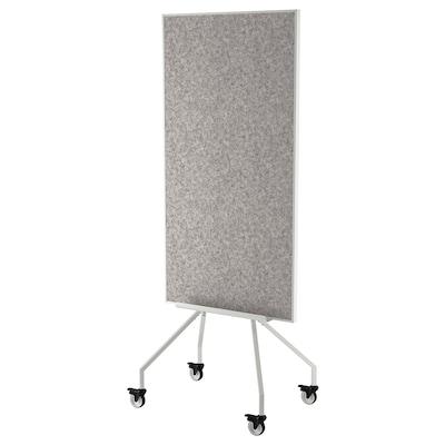 ELLOVEN Tableau blanc/mémo sur roulettes, blanc, 70x180 cm