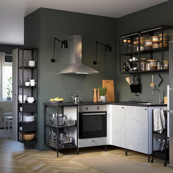 Enhet Cuisine D Angle Anthracite Imitation Ciment Ikea Suisse
