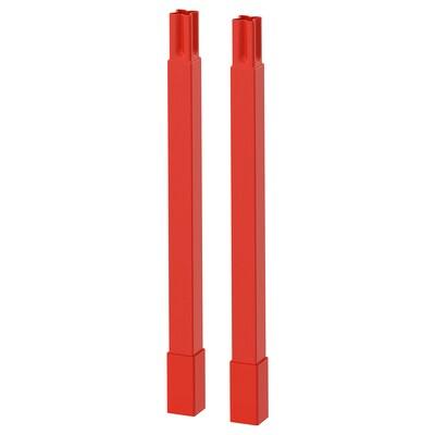ENHET Pieds pour structure, rouge orange, 23.5 cm