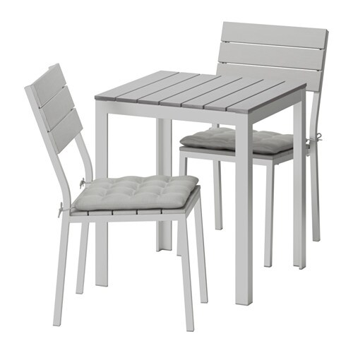 falster table 2 chaises ext rieur falster gris h ll gris ikea. Black Bedroom Furniture Sets. Home Design Ideas