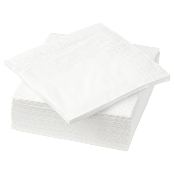 FANTASTISK Serviettes en papier, blanc, 24x24 cm