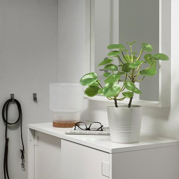 FEJKA Plante artificielle en pot, intérieur/extérieur Pilea, 12 cm