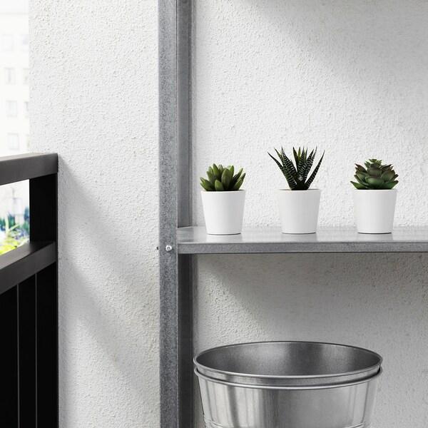 FEJKA Plante artificielle en pot, intérieur/extérieur succulente, 6 cm 3 pièces
