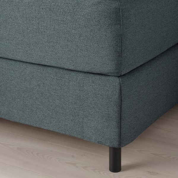 FINNSNES Lit/sommier, Hövåg mi-ferme/Tussöy gris, 160x200 cm