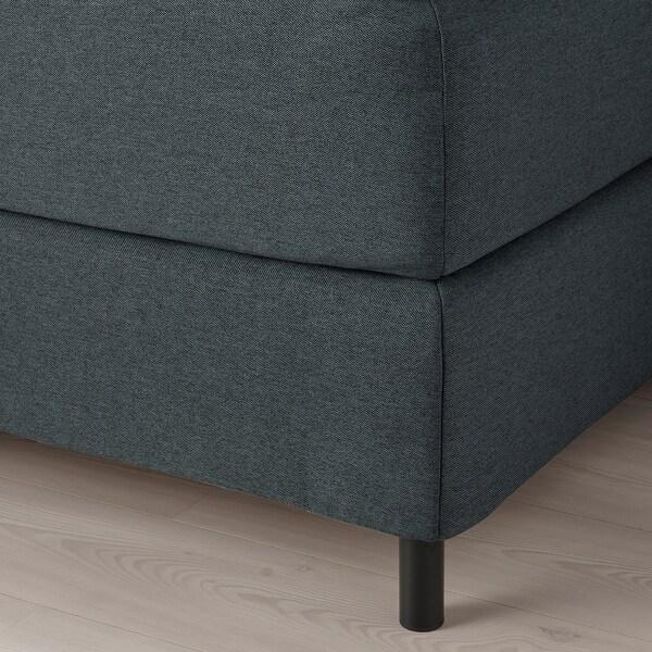 FINNSNES Lit/sommier, Hyllestad mi-ferme/Tussöy gris, 160x200 cm