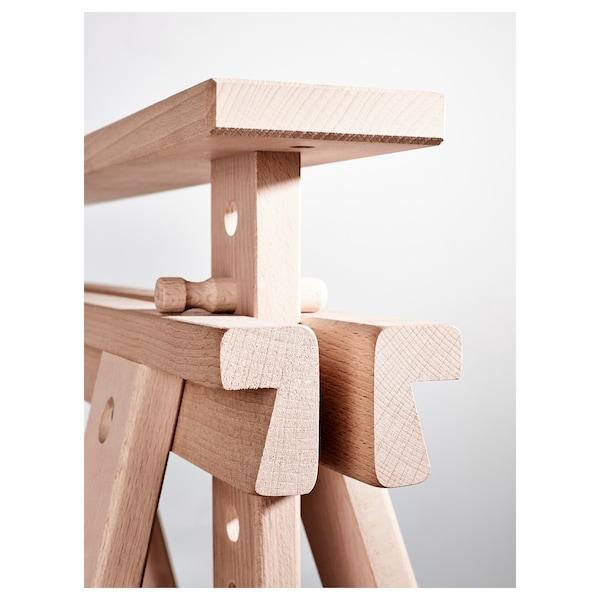 FINNVARD Tréteau avec étagère, hêtre, 70x71/93 cm