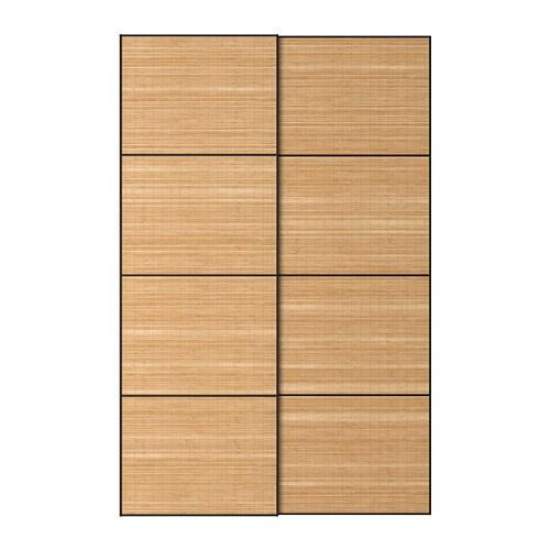 Fjellhamar jeu 2 ptes coul 150x236 cm accessoire de fermeture silencieuse ikea - Porte coulissante silencieuse ...