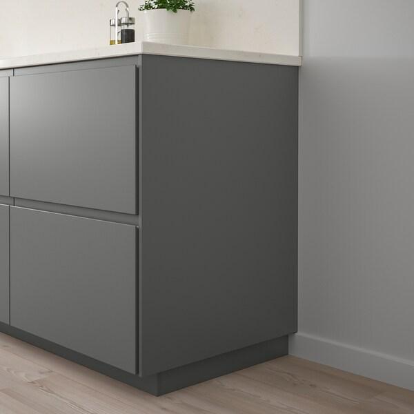 FÖRBÄTTRA Panneau latéral de finition, gris foncé, 39x86 cm