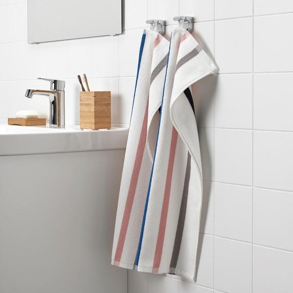 FOSKÅN Serviette, blanc/multicolore, 40x70 cm