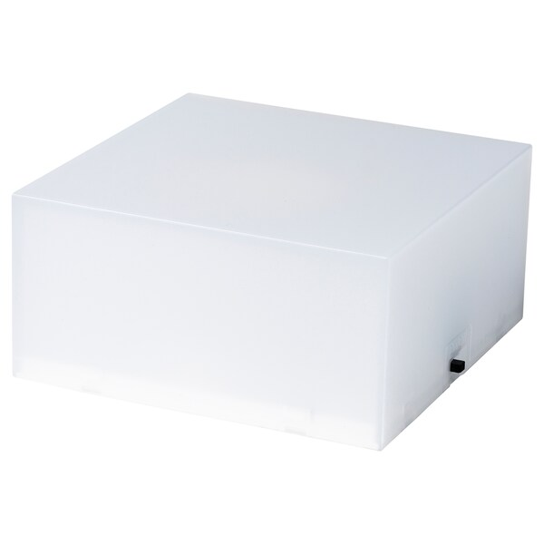 FREKVENS Base enceinte avec éclairage, blanc, 5x10 cm