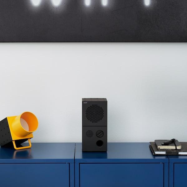 FREKVENS Enceinte, noir/jaune, 10x20 cm