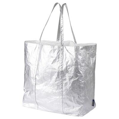 FREKVENS Tote bag, grand, couleur argent, 80 l