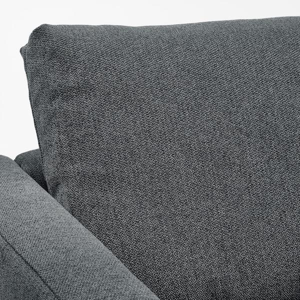 FRIHETEN Canapé conv d'angle avec rangement, Hyllie gris foncé