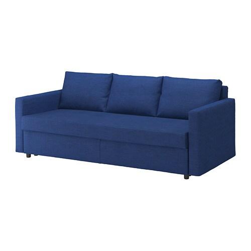 Friheten Canap 233 3 Places Convertible Skiftebo Bleu Ikea