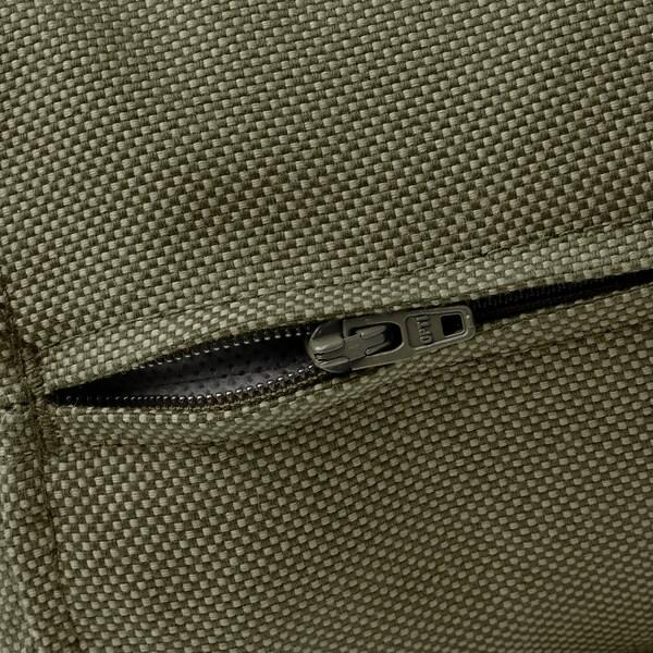 FRÖSÖN/DUVHOLMEN Coussin dossier, extérieur, beige vert foncé, 62x44 cm