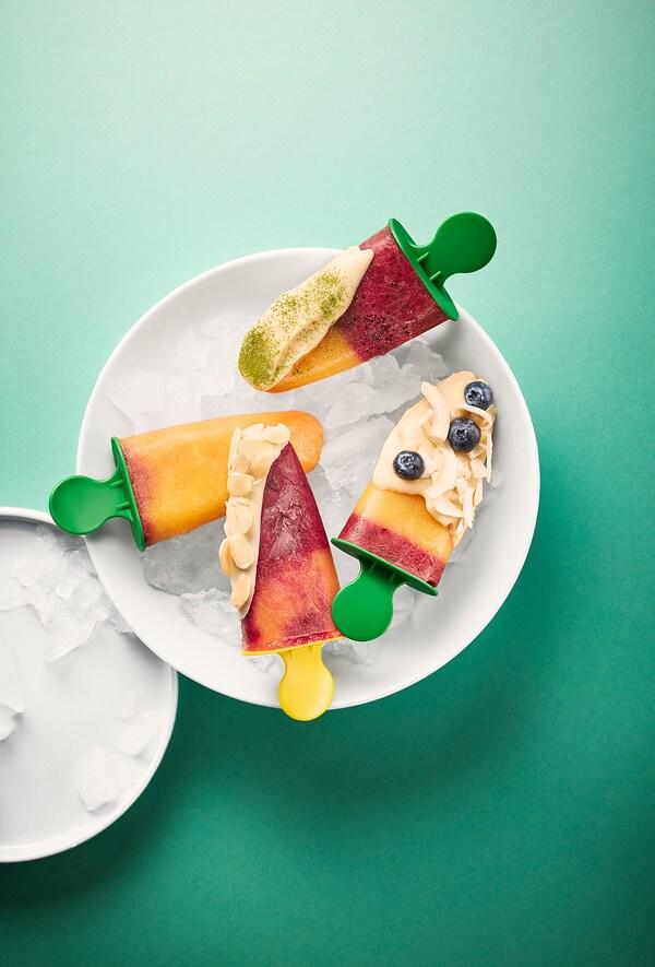 FRUKTSTUND Mélange smoothie prémixé, fraise avec de la citronnelle/surgelé, 420 g