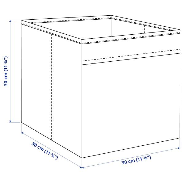 FYSSE Rangement tissu, gris foncé, 30x30x30 cm