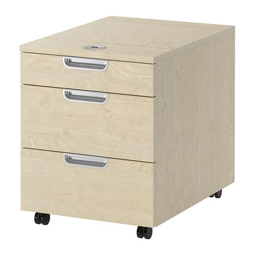 galant caisson tiroirs sur roulettes plaqu bouleau ikea. Black Bedroom Furniture Sets. Home Design Ideas
