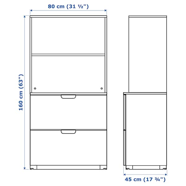 GALANT Combinaison rangements av dossiers, blanc, 80x160 cm