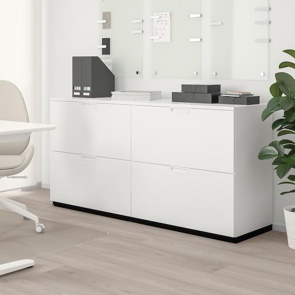 GALANT Combinaison rangements av dossiers, blanc, 160x80 cm