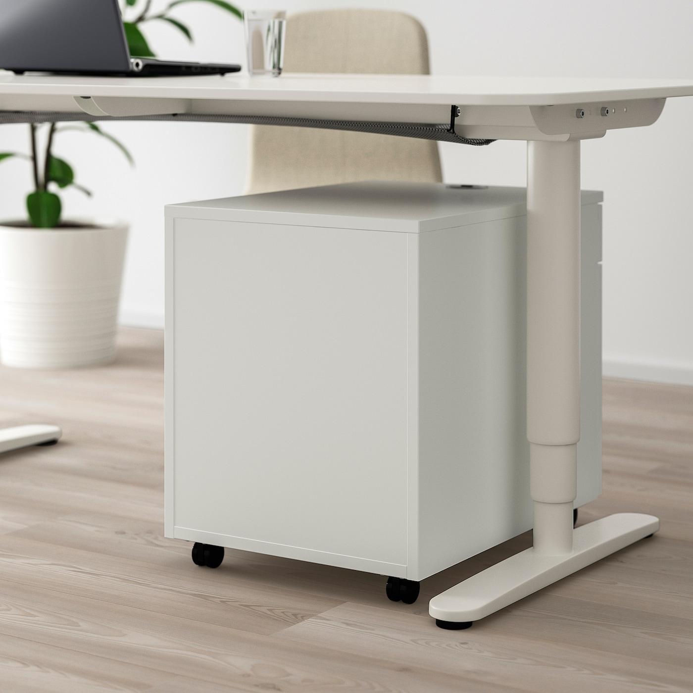 Mettre Des Roulettes Sous Une Table galant caisson à tiroirs sur roulettes - blanc 45x55 cm