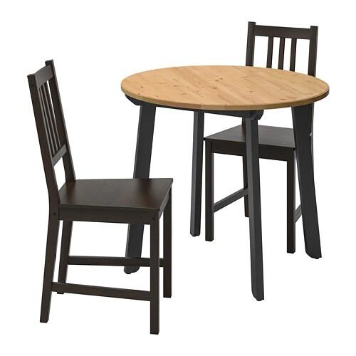 2 ClairBrun Noir Stefan Table Et Gamlared Antique ChaisesTeinté q5Aj43RL