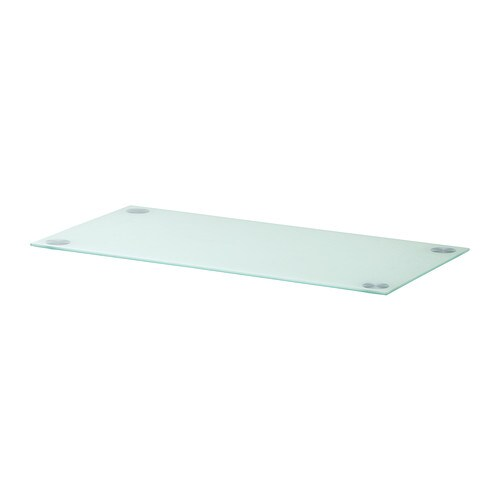Glasholm plateau verre blanc ikea for Table de cuisine en verre ikea