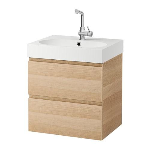 Godmorgon br viken meuble lavabo 2tir effet ch ne for Ikea meuble 4 carre