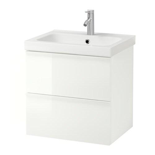 godmorgon odensvik meuble lavabo 2tir brillant blanc ikea. Black Bedroom Furniture Sets. Home Design Ideas